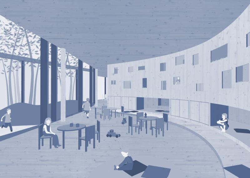 Hanna Drechsel Portfolio _ Architektur Spielt Mit _ 05 Gruppenraum-blau